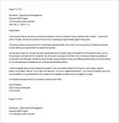 Student Letter Of Recommendation Template 9 Letter Of Recommendation For Student Free Sample