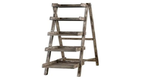 wood ladder bookcase corner ladder shelf rustic wood