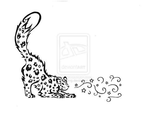 snow leopard tattoo designs tribal snow leopard by luckywing on deviantart