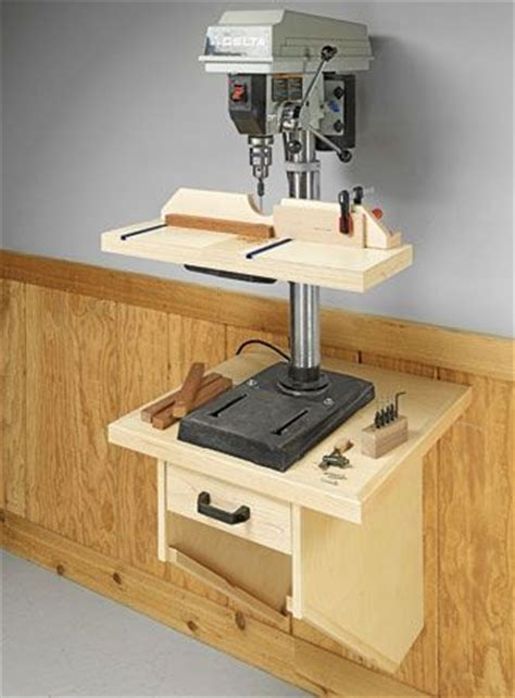 wall mounted drill press table woodsmith plans