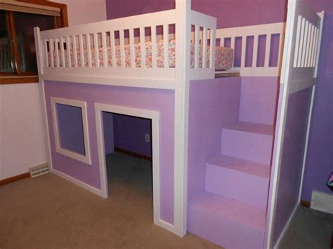fort bed kid s loft bed with fort kids pinterest
