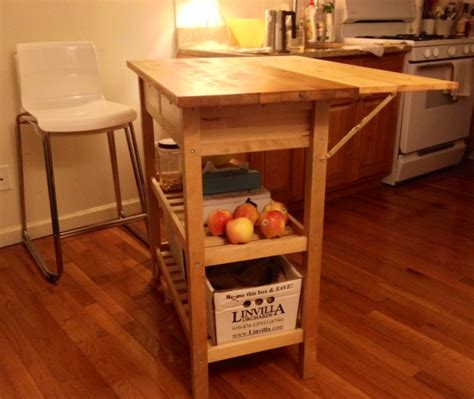Drop Leaf Kitchen Island Cart kitchen cart with drop leaf extension ikea hackers
