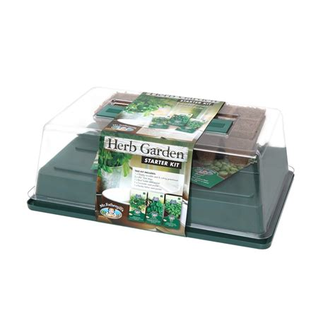 Herb Garden Starter Kit by Mr Fothergills Basil Herb Garden Starter Kit Bunnings