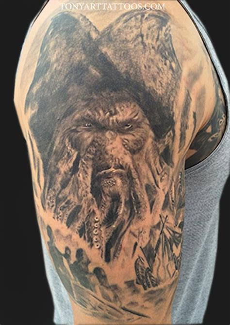 3d pirate davy jones tattoo 3d tattoos