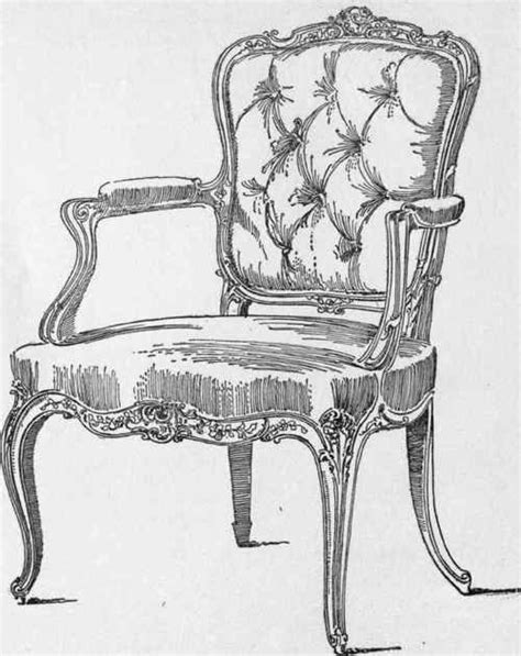 pencil sketches of chairs pen and ink sketch of a louis xv chair