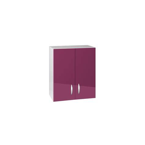 meuble haut cuisine 80 cm meuble de cuisine haut 2 portes 80 cm oxane laqu 233 brillant