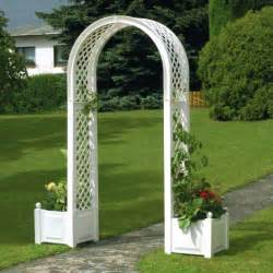 Trellis Arch With Planters Arch With Planter Boxes
