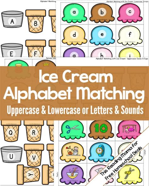 printable kindergarten alphabet games sorting letter sounds with ice cream homeschool and