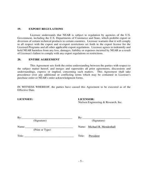 free software license agreement template sle software license agreement free
