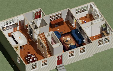dollhouse 3d real estate doll house view cape cod house 3d rendering