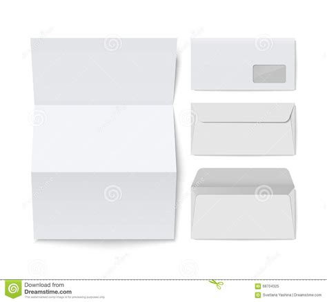 corporate envelope template paper folded letter and blank envelope template stock