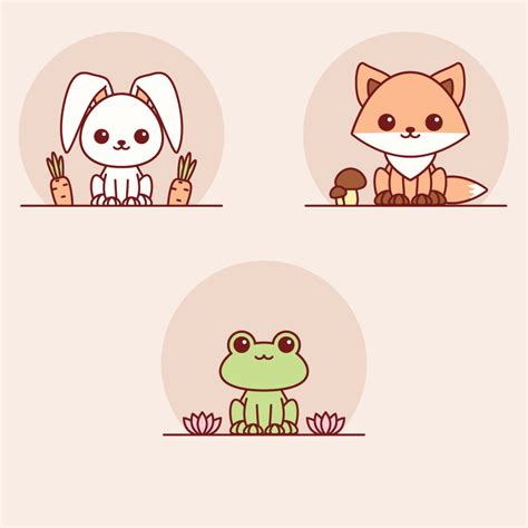 illustrator tutorial drawing cartoon how to create easy kawaii animals in adobe illustrator