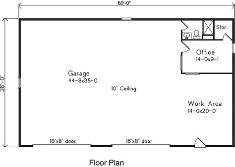 garage floor plans with bathroom garage plan 49011 at familyhomeplans com