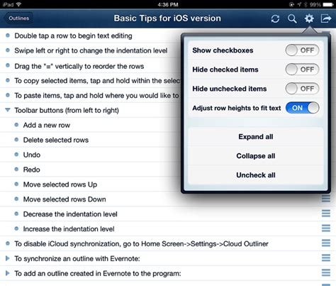 Outliner Mac Evernote by Create Organize Outlines Using Cloud Outliner For Ios Mac