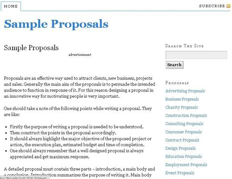 Business Proposals Sles by Resource To Write Proposals With Free Sle Templates To And Print Various