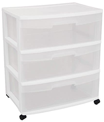 sterilite 3 drawer wide cart dimensions sterilite 29308001 wide 3 drawer cart white frame with