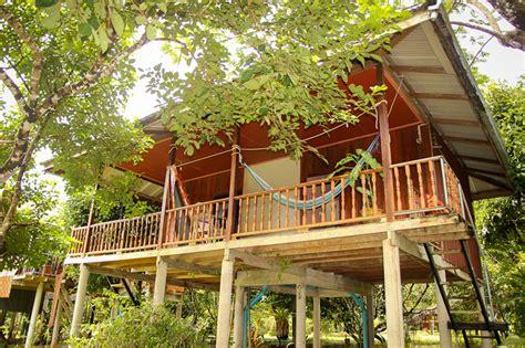 lakehouse bungalow family wood bungalow khao sok smiley bungalows and lakehouse