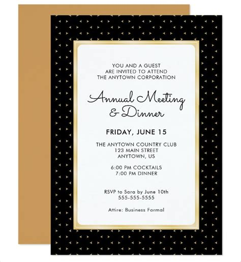 dinner invitation card template free annual dinner invitation card sle choice image