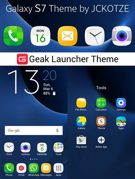themes for galaxy launcher galaxy s7 theme for geak launcher by tiaankotze on deviantart