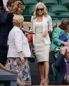katherine jenkins shares a giggle with former tour partner