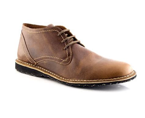 Kickers Scape Brown leather desert boot