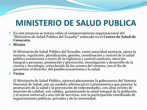 el ministerio de la ministerio de salud publica