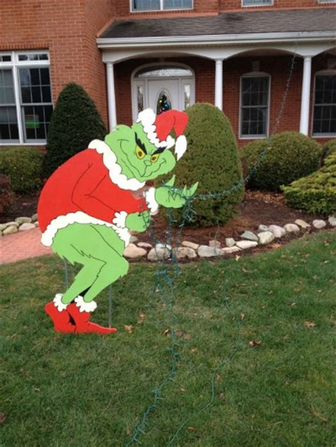 grinch stealing lights decoration the grinch yard and outdoor decorations