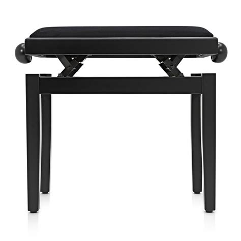 taburete music taburete piano ajustable de gear4music negro mate b