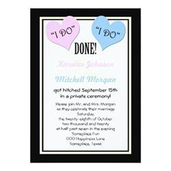 invitations post wedding reception post wedding reception invitations i do 5 quot x 7 quot invitation card zazzle