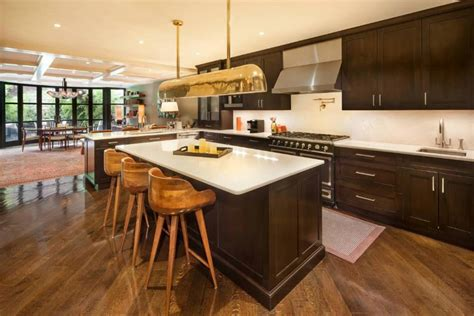 l kitchen layout with island 53 high end contemporary kitchen designs with wood cabinets designing idea