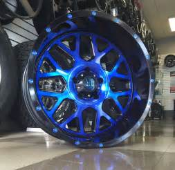 Wheels Blue Truck With Motorcycles 5 20 Quot 20x10 Xd820 Grenade Blue Rims Wheels 35 Quot Mt Tires