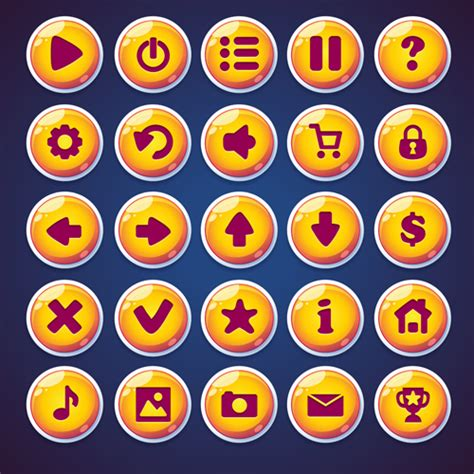 web video game round ioncs button vector web icons free