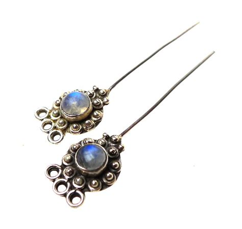 headpins jewelry moonstone headpins sterling silver and moonstone 2