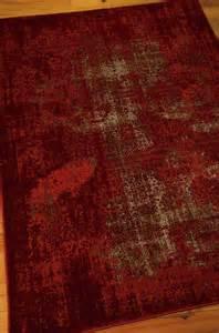 Nourisson Rugs Nourison Karma Krm01 Red Area Rug