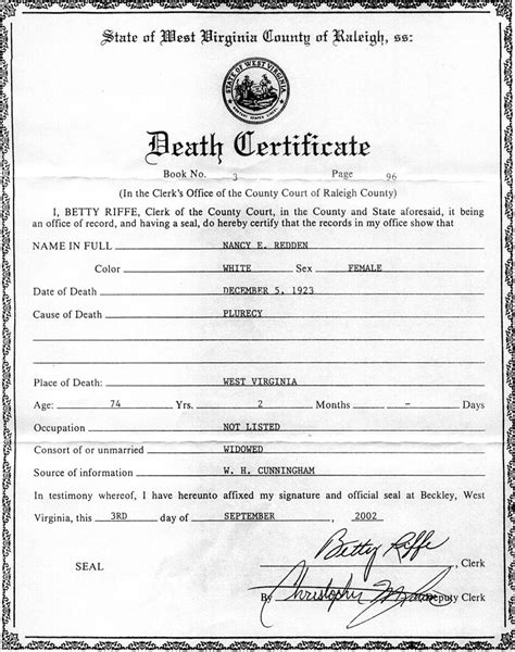 best photos of blank death certificate template 2014