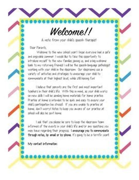 Parent Letter For New School Year 1000 images about therapy easier on