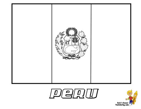 free coloring pages of drawing map of peru