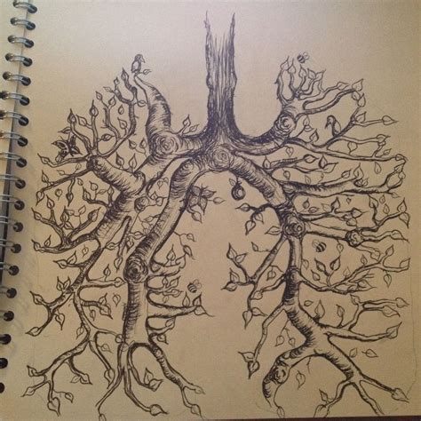 lung tattoo lung tree cancer lungs and