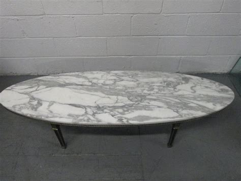 oval marble coffee table regency oval brass marble top coffee table for