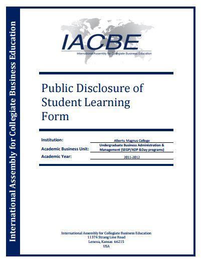 Albertus Magnus Mba Tuition by Accreditation Reports At Albertus Magnus College