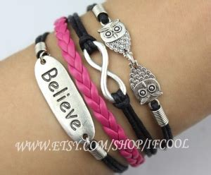Gelang Korea Infinity Courage Anchor cheap opulance leather braided friendship bracelet