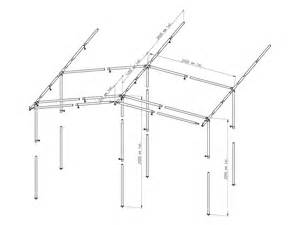 awning frame steel 350 poles awnings canopies