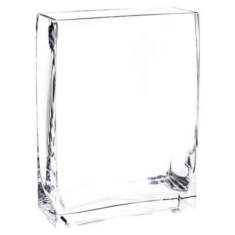 vaso vetro rettangolare vaso rettangolare in vetro h 20 cm maisons du monde