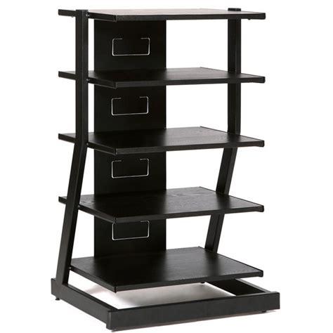 Audio Component Shelf by Plateau Audio Visual Stand In Black Oak Finish