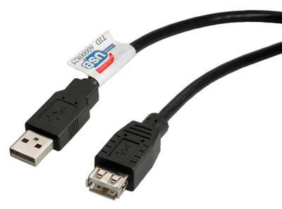 Kabel Usb 2 In 1 For All Type Smartphone usb 1 1 2 0 verleng kabel 3 mtr a a zwart kleinspul nl