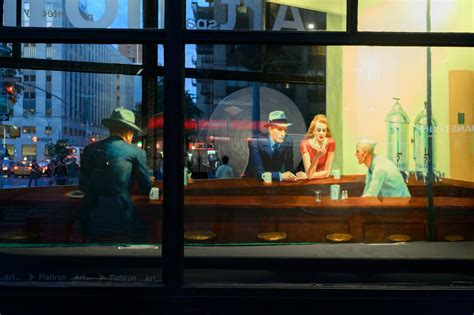 chambre à york edward hopper nighthawks painting has been recreated as a 3d