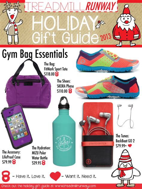 the fitness gift guide 2013 gym bag essentials