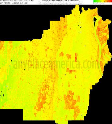 south louisiana elevation map free ouachita parish louisiana topo maps elevations