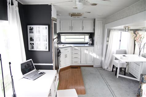 fabulous 5th wheel cer makeover accent colors grey and cers