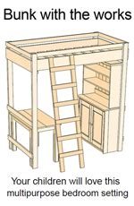 loft bed desk plans   woodworking